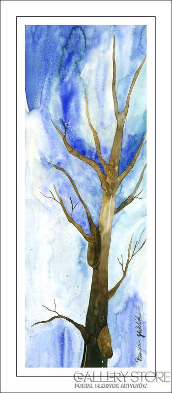 Pracownia Aquarelle Klaudia Pawelec-Gliklich-Drzewo mirowe I -Akwarela