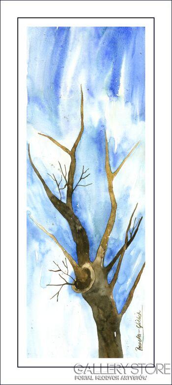Pracownia Aquarelle Klaudia Pawelec-Gliklich-drzewo mirowe II-Akwarela