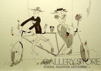 Dariusz Grajek-Kochankowie i bicykl....-Grafika