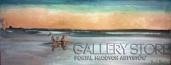 Romuald Mulk Musiolik-Rozmowy na plaży-Olej