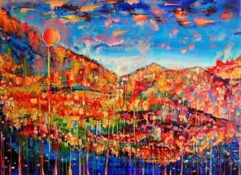 Dorota Mielczarek-Zachód słońca 2-Olej