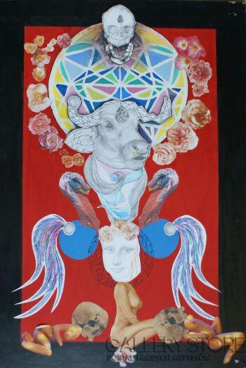 Kazia Pieczynska-Bóg wojny-Grafika