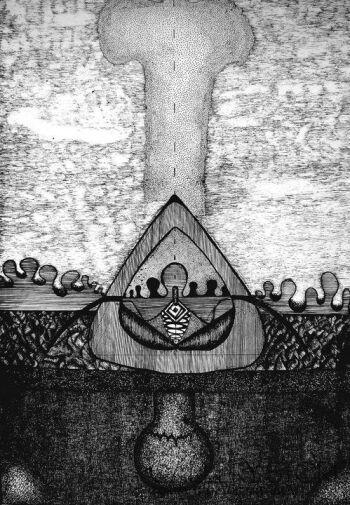 Amadeusz Popek-Hiroshima- Rysunek