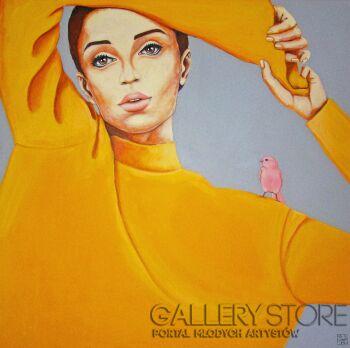 Renata Magda-pink bird II-Akryl