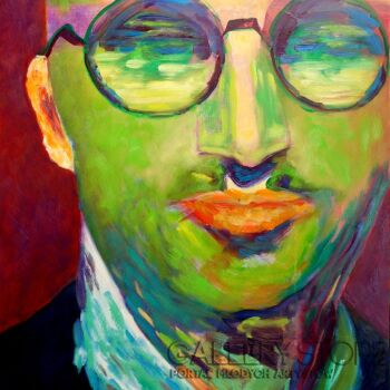 Magdalena Walulik My okularnicy portret mężczyzny