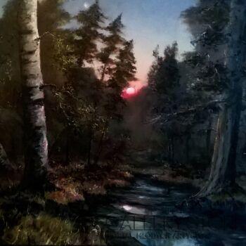 Paweł Kosior Zachód słońca w lesie
