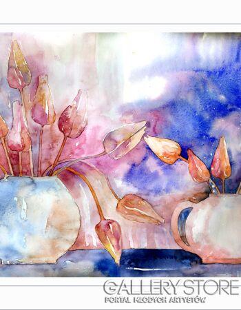 Pracownia Aquarelle Klaudia Pawelec-Gliklich Z tulipanami