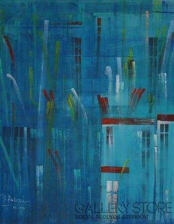 Małgorzata Rukszan-Miejskie poruszenie II-Acrylic