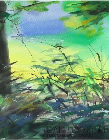 Joanna Sadecka-Zapach lasu-Watercolor