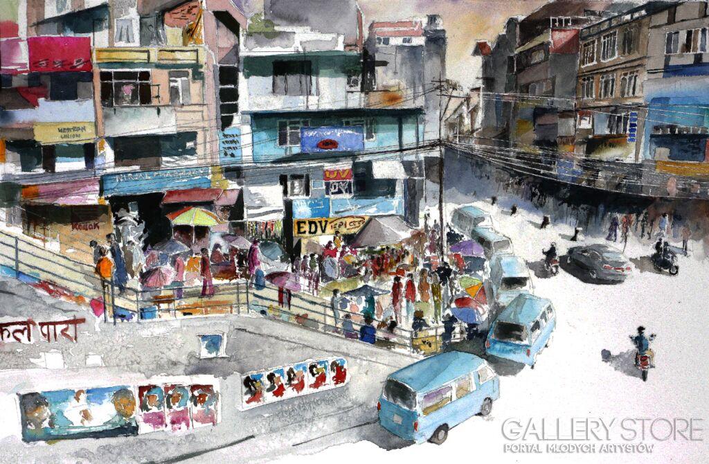 Bazar w Kathmandu Tomasz Olszewski
