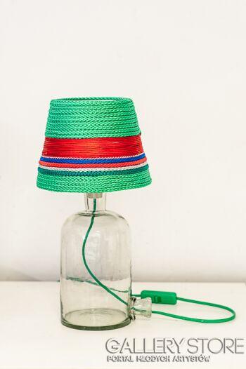 Bartek Bartosiński Lampka nocna nabita w butelkę  - abażur hand-made