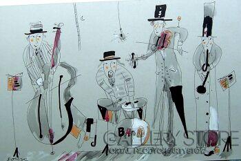 Dariusz Grajek-Jazzowe granie....- Rysunek