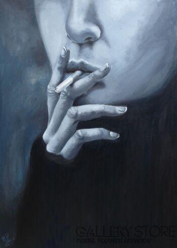 Justyna  Kasperkiewicz cigarette