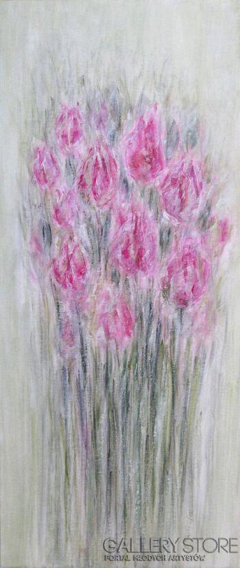 Marta Machowicz-Wiosenne tulipany -Olej