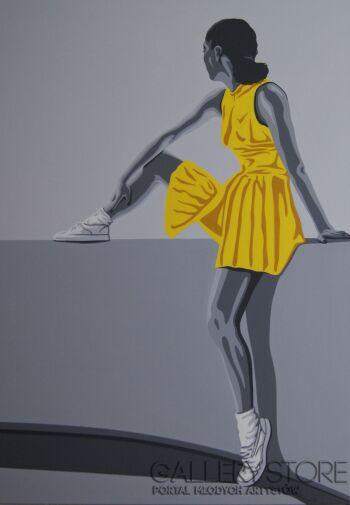 Wojciech Urbańczyk żółta sukienka