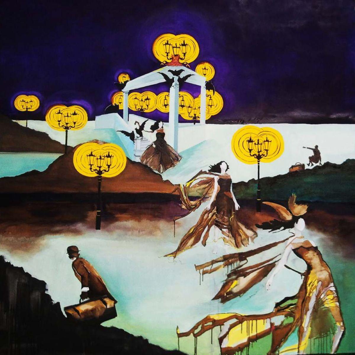 Pod patronatem Gallerystore: Zapraszamy na wystawe malarstwa Olgi Langowskiej ''POD NIEBEM OBŁĄKANEGO BOGA''