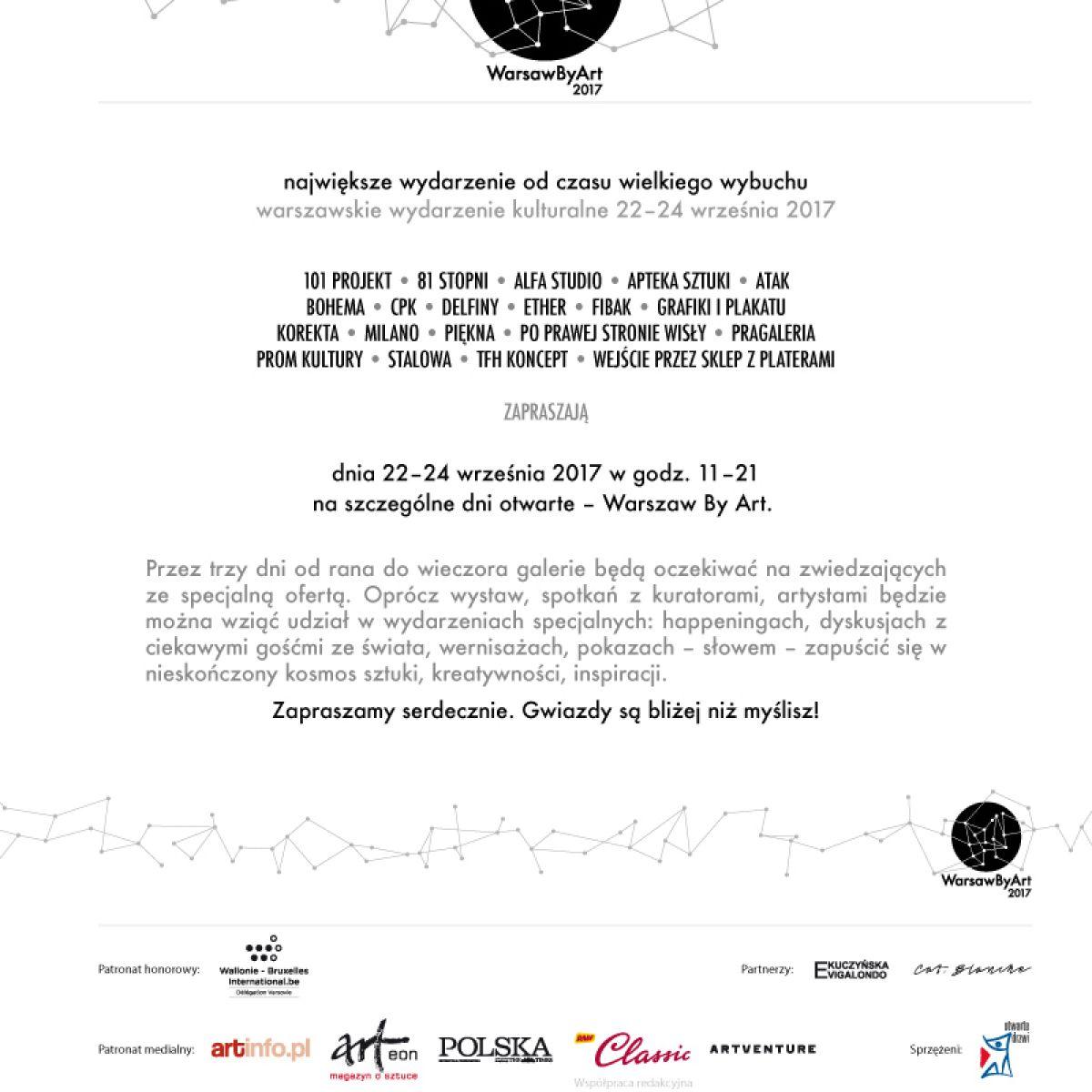 KLASYKA WSPÓŁCZESNOŚCI: Wystawa w ramach warszawskiego wydarzenia kulturalnego Warsaw by Art 2017