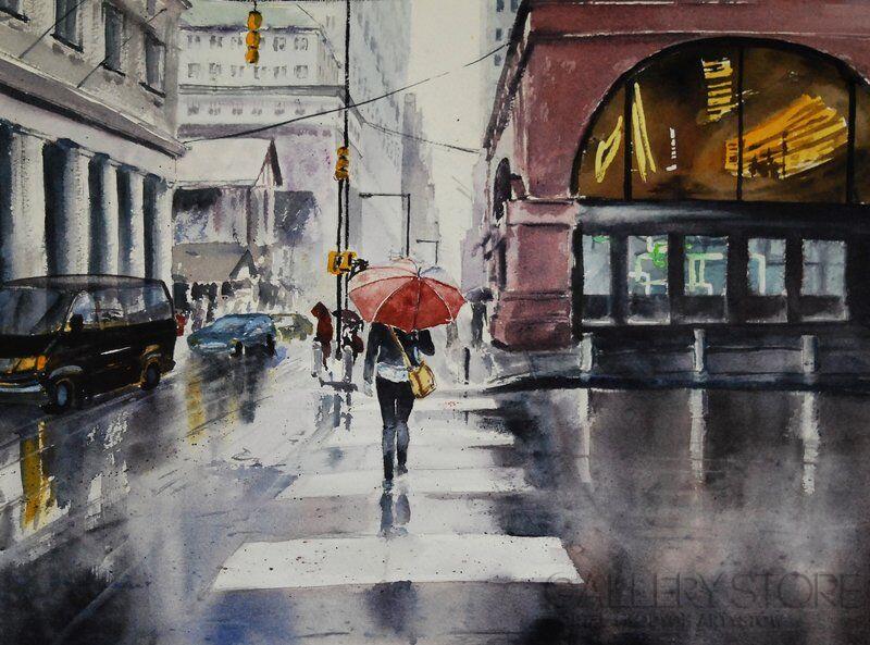 Deszczowy dzień Anna Krzeszowiec