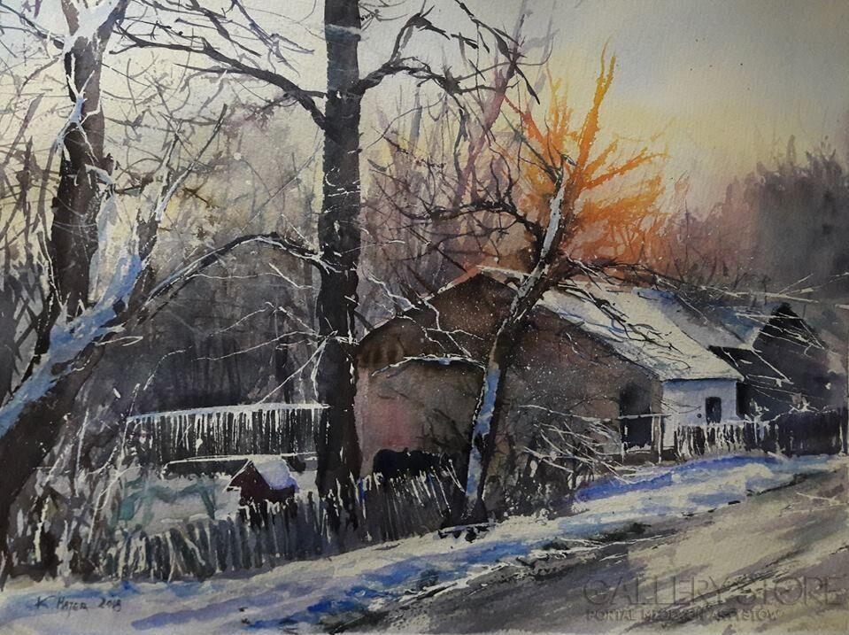 W słońcu zimowym Karolina Majer