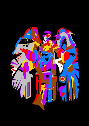 Adrian Czeladziński-Anioł nr.4-Grafika