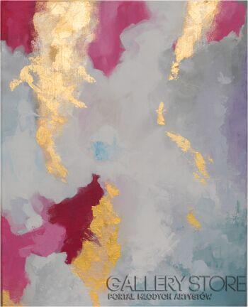 Adriana Bielenik-Abstrakcja z złotem-Akryl