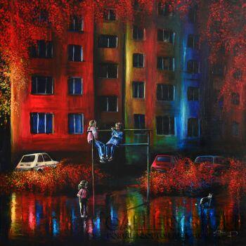 Agata Buczek-Rozmowy na trzepaku-Akryl