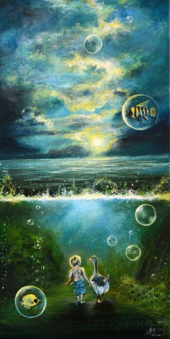Agata Buczek-Spacer pod wodą-Akryl