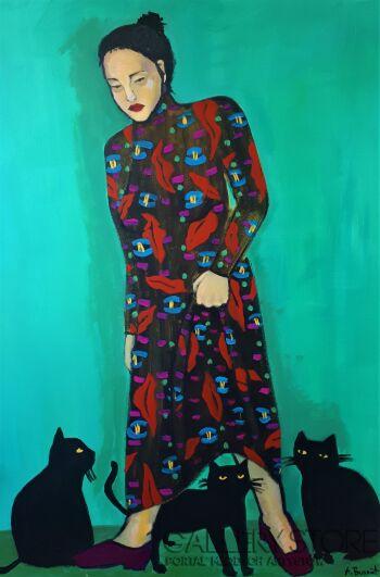 Agata Burnat-3 koty-Akryl