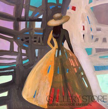 Agata Padol-Ażurowa suknia-Akryl