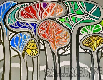 Agata Padol-Drzewa piniowe C-Akryl