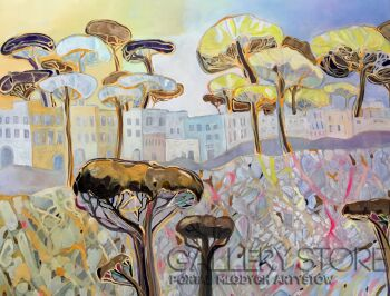Agata Padol-Drzewa piniowe II-Akryl