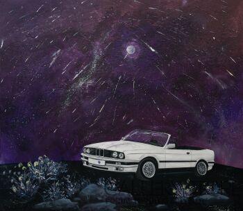 Agnieszka Mrowca-BMW w kosmosie-Akryl