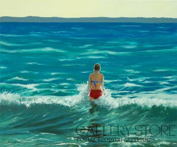 Agnieszka Mrowca-I watch the waves-Akryl