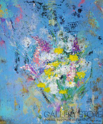 Agnieszka Mrowca-Polne kwiaty-Akryl