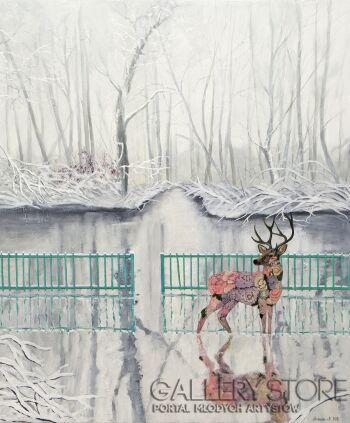 Agnieszka Mrowca-Zimowy ogród-Akryl