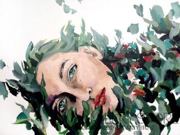 Agnieszka Sukiennik-w moim ogrodzie-Olej