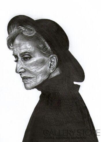 Agnieszka Wołkowicz-Dama z kapeluszem-Rysunek