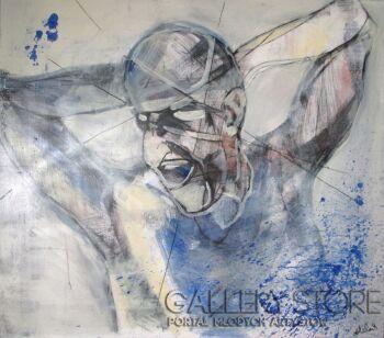 Aleksander Kubis-Krzyk-Akryl