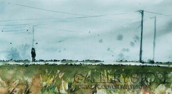 Aleksandra Jas-Błądząc we mgle-Akwarela