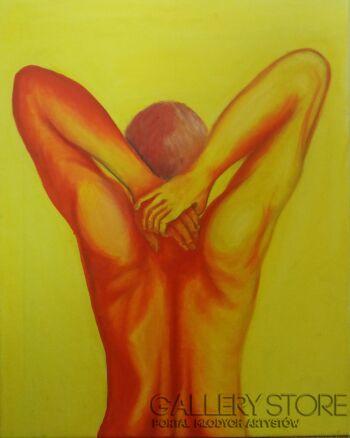 Aleksandra Kucia-Mężczyzna w żółciach-Olej