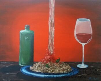 Aleksandra Kucia-Włoska kolacja-Olej