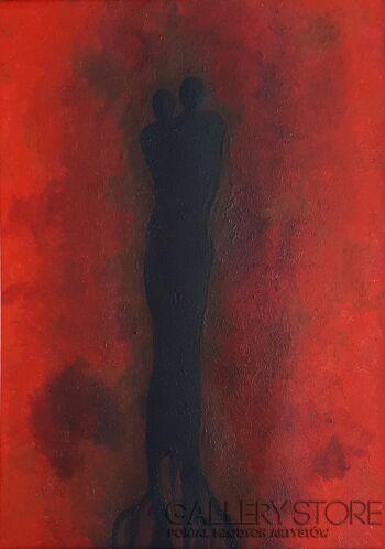 Aleksandra Lisiecka-Ognisty pył-Akryl
