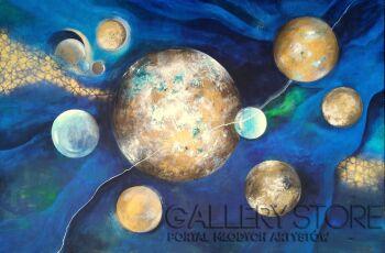 Aleksandra  Michalik-Gold Balls-Akryl