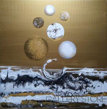 Aleksandra  Michalik-White & Gold Balls-Akryl