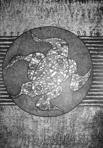Amadeusz Popek-Pięciornica-Rysunek