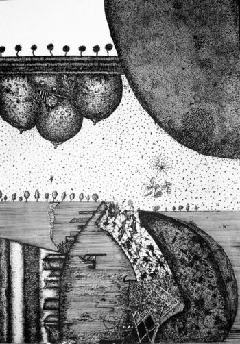 Amadeusz Popek-Trzy cyce-Rysunek