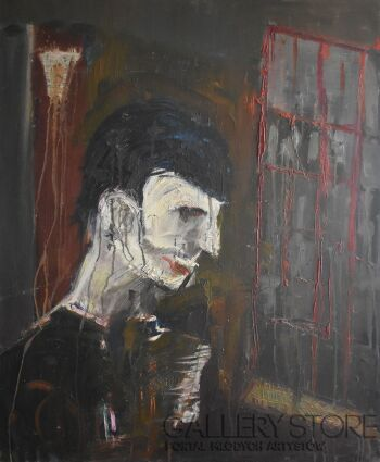 Andrzej Szot-Ekspresyjny portret-Olej