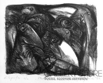 Andrzej Zujewicz-Ptaki litografia 1-Grafika