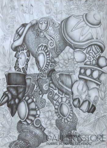 Aneta  Lachendro-Golem-Rysunek