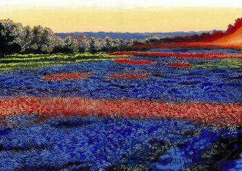 Angelika Mus-Nowak-Błękit wtulony w miękkie trawy-Rysunek